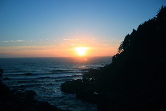 Sunset from Cape Perpetua
