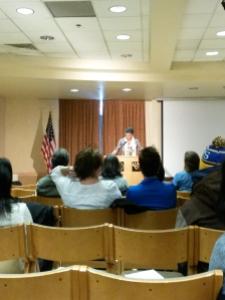 Carlotta Walls LaNier telling her story.